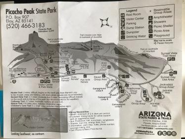 Map of Picacho Peak