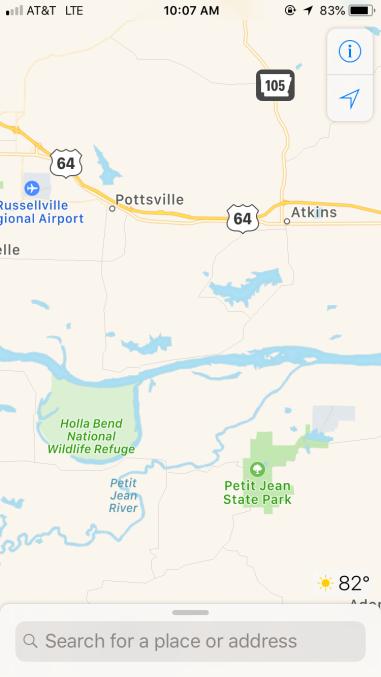 Holla Bend National Wildlife Refuge/Petit Jean State Park 8:07am